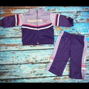 Baby girl Reebok Outfit Size 3-6 Mo jacket Pants